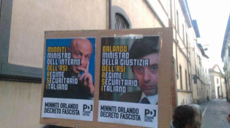 """Il ministro Orlando a Lucca viene contestato dagli antifascisti. """"Basta repressione e fogli di via"""""""