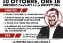 10 ottobre in piazza a Lucca davanti alla prefettura, contro i decreti razzisti di Salvini