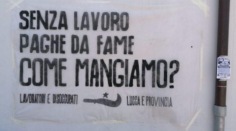 """Centri per l'impiego chiusi, lavoratori e disoccupati di Lucca e provincia all'attacco: """"Senza lavoro come mangiamo?"""""""